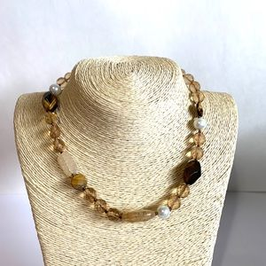 WHBM Natural Ladies Statement Necklace